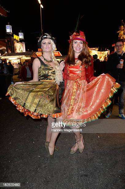 Linda Barbie and Georgina Fleur attend the Natascha Gruen Wiesn at Haxenbraterei during the Oktoberfest at Theresienwiese on September 29 2013 in...