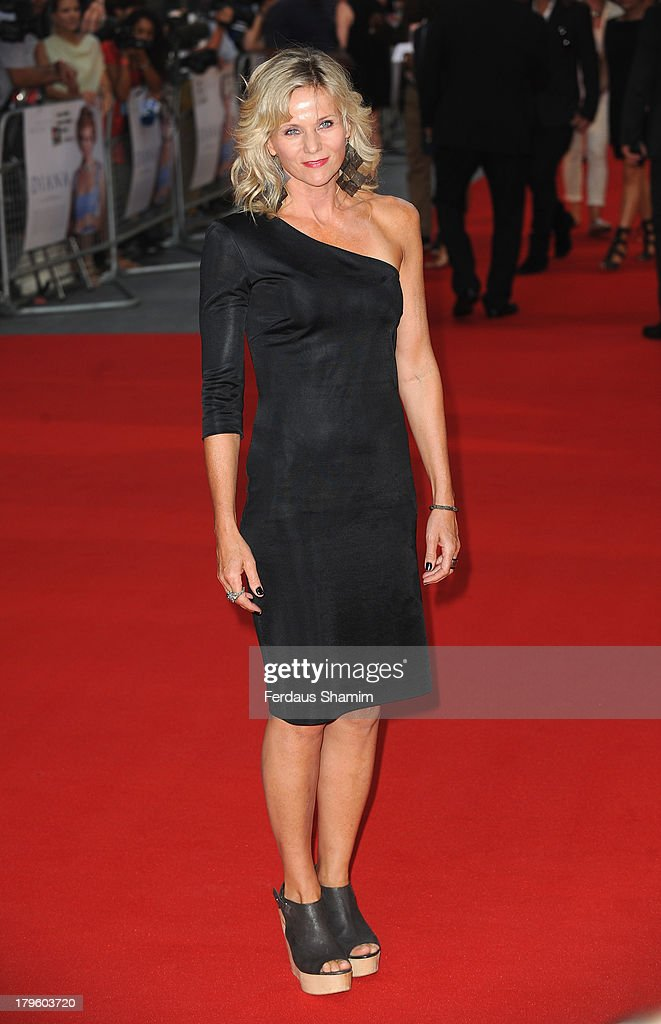 Linda Barker attends the World Premiere of 'Diana' at Odeon Leicester Square on September 5, 2013 in London, England.