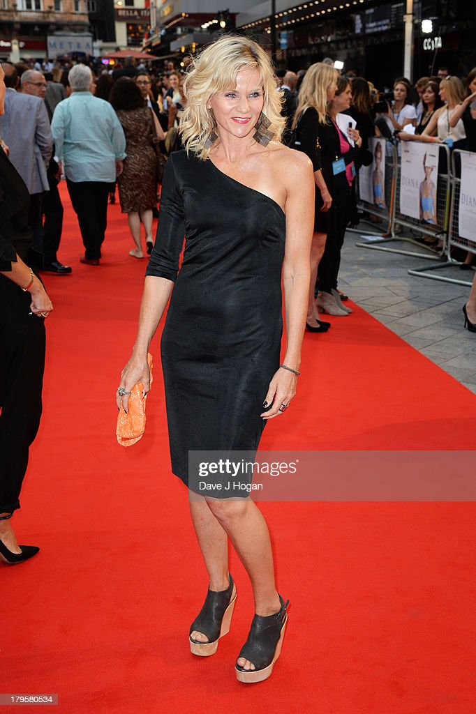 Linda Barker attends the world premiere of 'Diana' at The Odeon Leicester Square on September 5, 2013 in London, England.