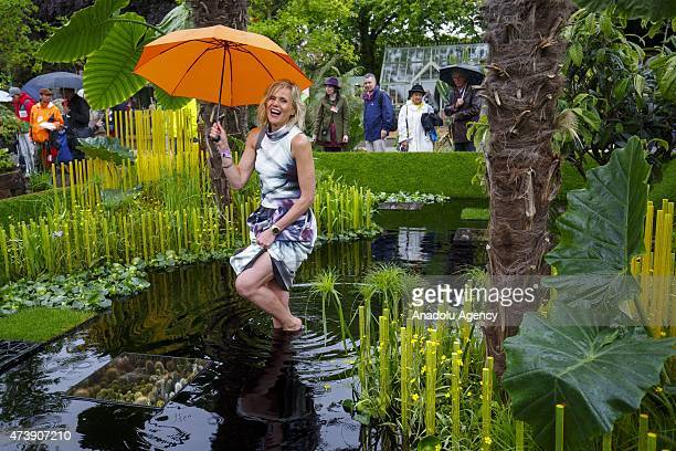 Linda Barker promotes The Word Vision Garden at the Chelsea Flower Show on May 18 2015 in London England The show which has run annually since 1913...