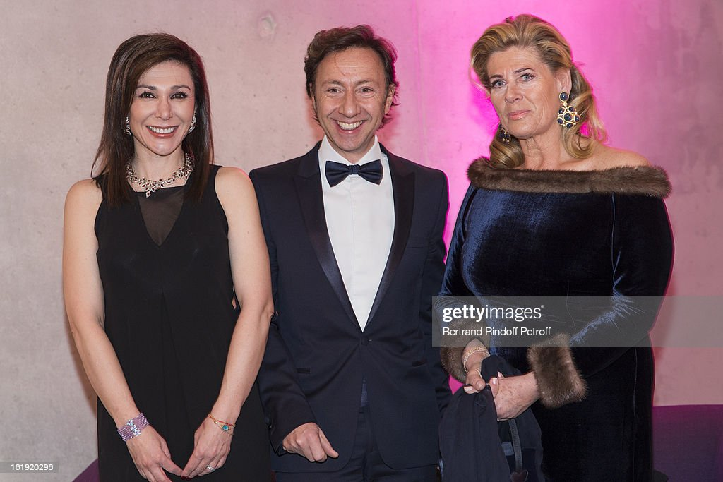 Linda Barras, President of the event, Stephane Bern, French journalist and author, and Princess Lea of Belgium, acting as honorary chairperson of the event, attend the 30th edition of 'La Nuit Des Neiges' Charity Gala on February 16, 2013 in Crans-Montana, Switzerland.