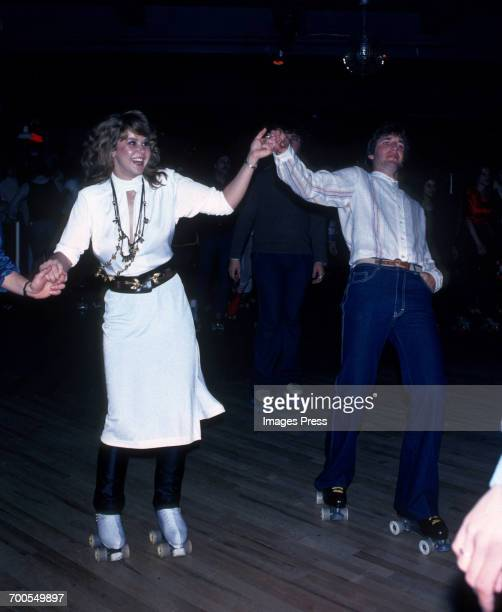 Linda Blair and costar Jim Bray attends the Promotional Party for 'Roller Boogie' circa 1979 in New York City