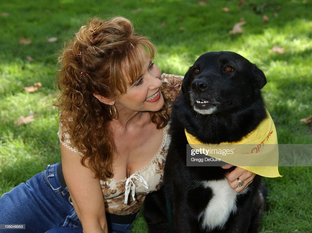 Linda Blair Dog Angel during Best Friends Animal Sanctuary's Pet Adoption Festival at Johnny Carson Park in Burbank California United States