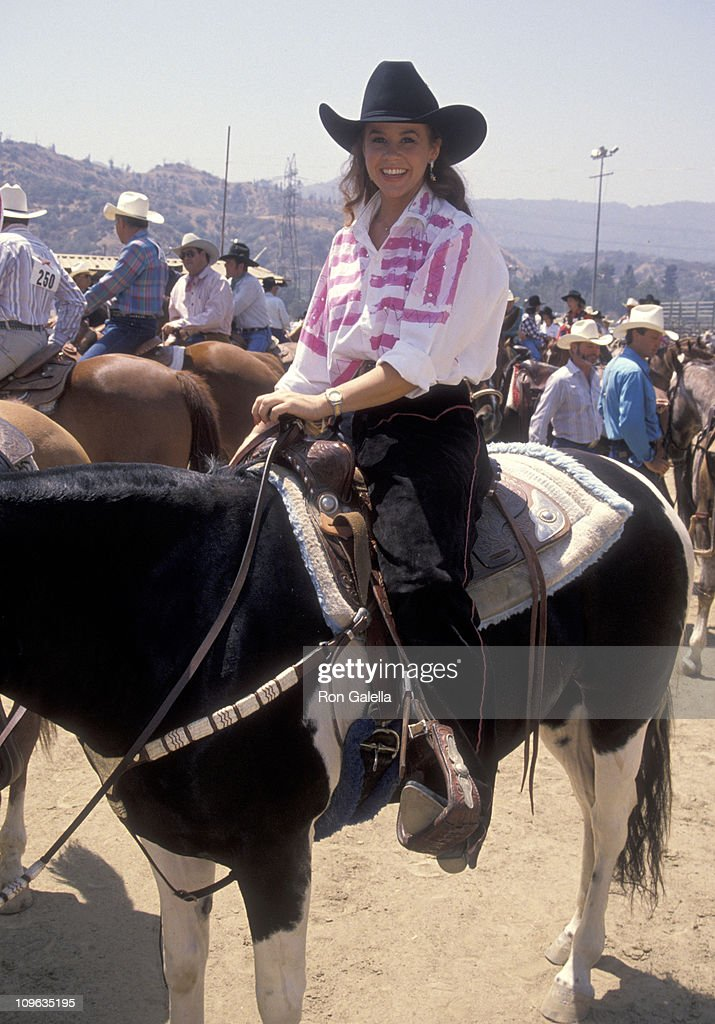 Linda Blair during Ben Johnson ProCelebrity Rodeo at LA Equestrian Center in Burbank California United States