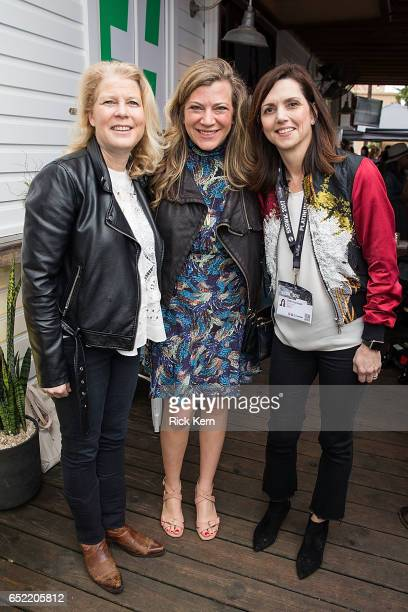 Linda Boff Nola Weinstein and Beth Comstock attend Twitter's #SheInspiresMe brunch during SXSW at Bar 96 on March 11 2017 in Austin Texas