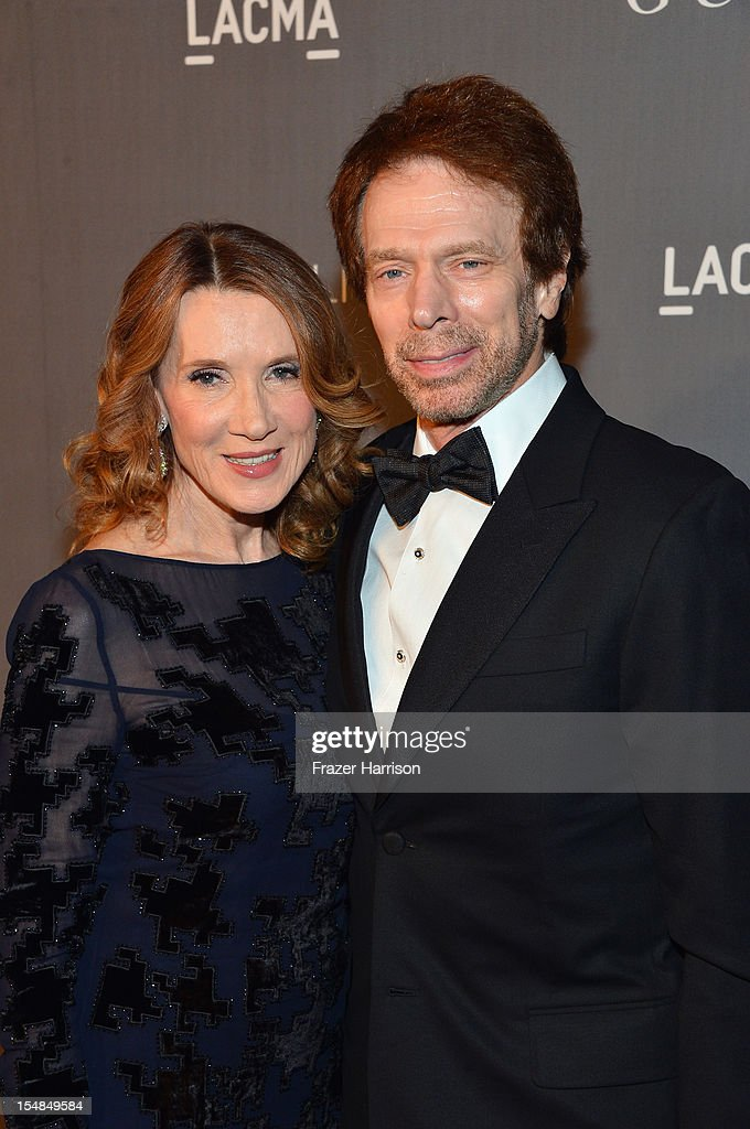 <a gi-track='captionPersonalityLinkClicked' href=/galleries/search?phrase=Linda+Bruckheimer&family=editorial&specificpeople=227986 ng-click='$event.stopPropagation()'>Linda Bruckheimer</a> and producer <a gi-track='captionPersonalityLinkClicked' href=/galleries/search?phrase=Jerry+Bruckheimer&family=editorial&specificpeople=203316 ng-click='$event.stopPropagation()'>Jerry Bruckheimer</a> arrive at LACMA 2012 Art + Film Gala Honoring Ed Ruscha and Stanley Kubrick presented by Gucci at LACMA on October 27, 2012 in Los Angeles, California.