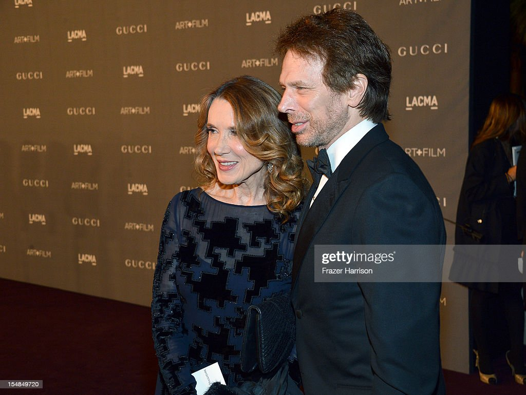 Linda Bruckheimer and producer Jerry Bruckheimer arrive at LACMA 2012 Art + Film Gala Honoring Ed Ruscha and Stanley Kubrick presented by Gucci at LACMA on October 27, 2012 in Los Angeles, California.