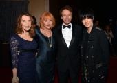 Linda Bruckheimer music supervisor Kathy Nelson honoree Jerry Bruckheimer and songwriter Diane Warren attend the 27th American Cinematheque Award...