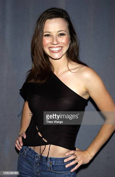 Linda Cardellini during The Cast of 'Scooby Doo' Visits MTV's 'TRL' June 12 2002 at MTV Studios Times Square in New York City New York United States