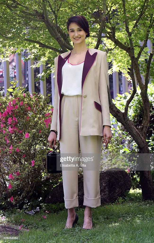 Linda Caridi attends a photocall for 'Felicia Impastato' RAI TV movie at Viale Mazzini on May 5, 2016 in Rome, Italy.