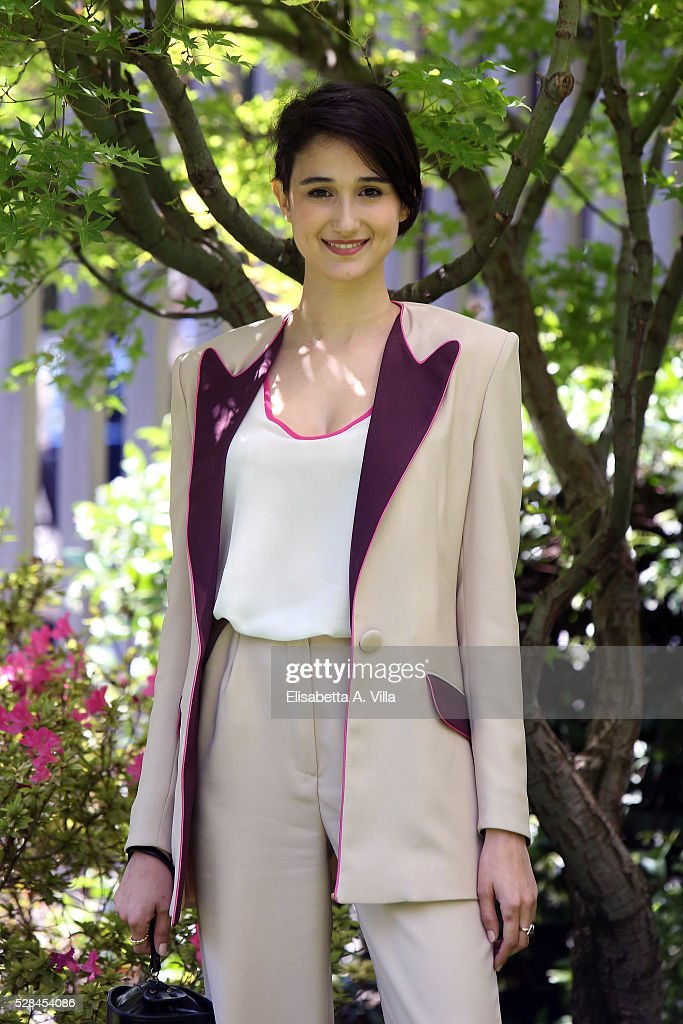 Linda Caridi attends a photocall for 'Felicia Impastato' RAI TV movie at Viale Mazzini on May 5, 2016 in Rome, Italy.