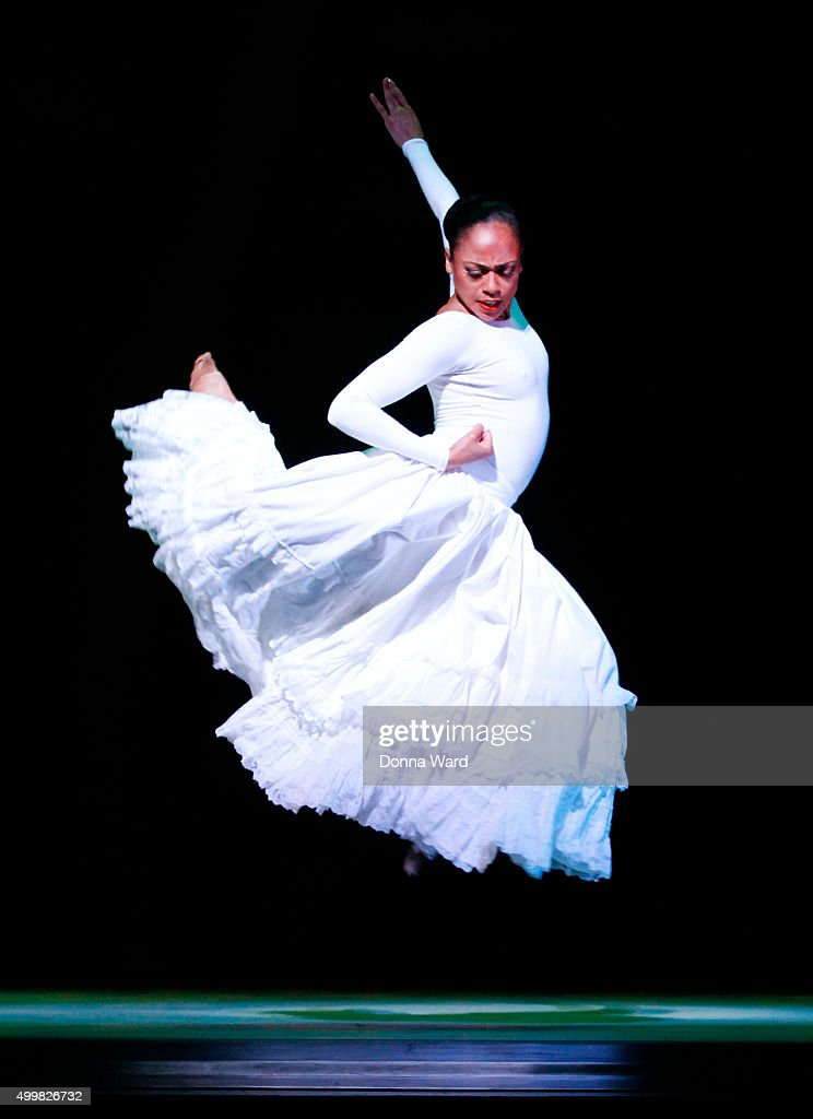Linda Celeste Sims performs during the Alvin Ailey American Dance Theater New York City Season Dress Rehearsals for 'Cry' at New York City Center on...