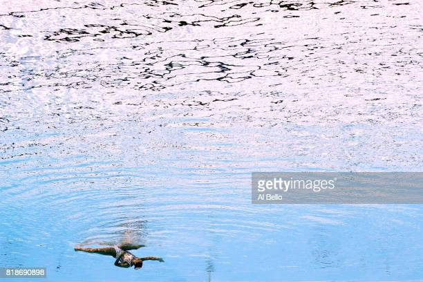 Linda Cerruti of Italy competes during the Synchronised Swimming Solo Free Final on day six of the Budapest 2017 FINA World Championships on July 19...