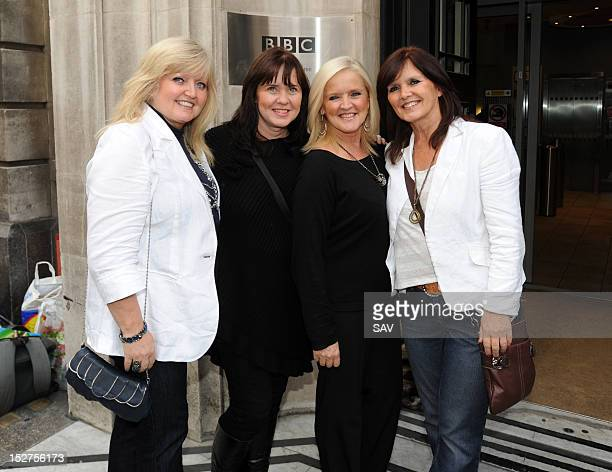 Linda Coleen Bernie and Maureen of the The Nolans sighted at BBC Radio 2 on September 25 2012 in London England