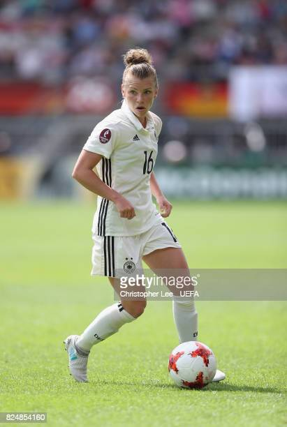Linda Dallmann of Germany in action during the UEFA Women's Euro 2017 Quarter Final match between Germany and Denmark at Sparta Stadion on July 29...