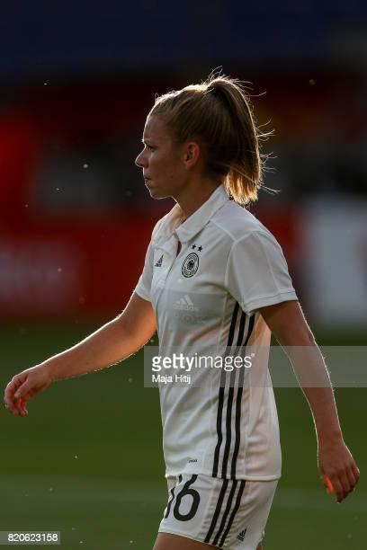 Linda Dallmann of Germany looks on prior the UEFA Women's Euro 2017 at Koning Willem II Stadium on July 21 2017 in Tilburg Netherlands