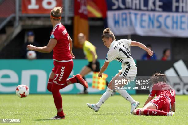 Linda Dallmann of Germany shoots during the UEFA Women's Euro 2017 Quarter Final match between Germany and Denmark at Sparta Stadion on July 30 2017...