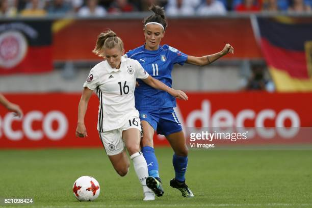 Linda Dallmann of Germany women Barbara Bonansea of Italy Women during the UEFA WEURO 2017 Group B group stage match between Germany and Italy at...