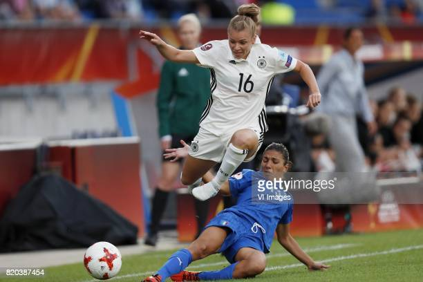 Linda Dallmann of Germany women Elisa Bartoli of Italy Women during the UEFA WEURO 2017 Group B group stage match between Germany and Italy at Koning...