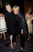 Linda Ellerbee and Suze Orman during 31st Annual American Women in Radio Television Gracie Allen Awards Inside at Mariott Marquis in New York City...