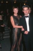 Linda Evangelista and Kyle MacLachlan during Costume Institute Gala's Gianni Versace Exhibit at Metropolitan Museum of Art in New York City New York...