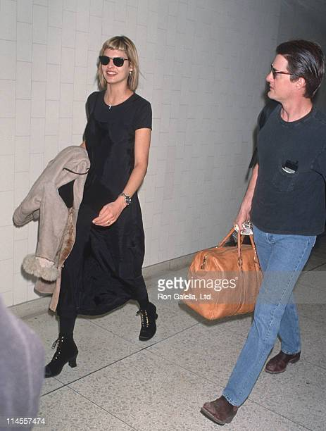 Linda Evangelista and Kyle MacLachlan during Linda Evangelista and Kyle MacLachlan Sighting at Los Angeles International Airport January 30 1994 at...
