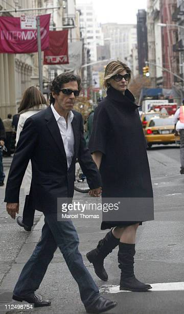 Linda Evangelista and Peter Morton during Linda Evangelista Sighting in Soho New York City November 13 2006 at Soho in New York City New York United...