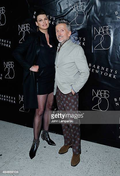 Linda Evangelista and Simon Doonan attend the NARS' 20th Anniversary Celebration at Barneys New York on September 4 2014 in New York City