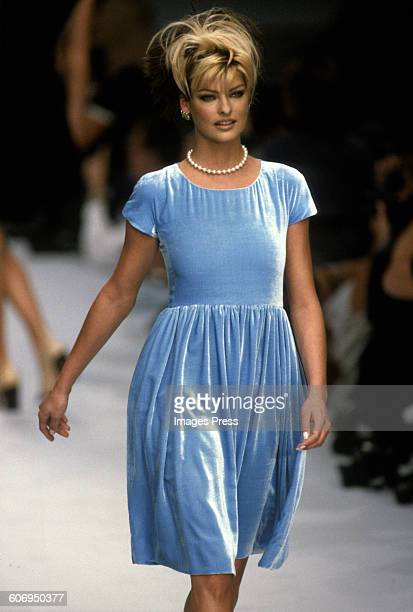 Linda Evangelista at the Chanel Spring 1996 show circa 1995 in Paris France