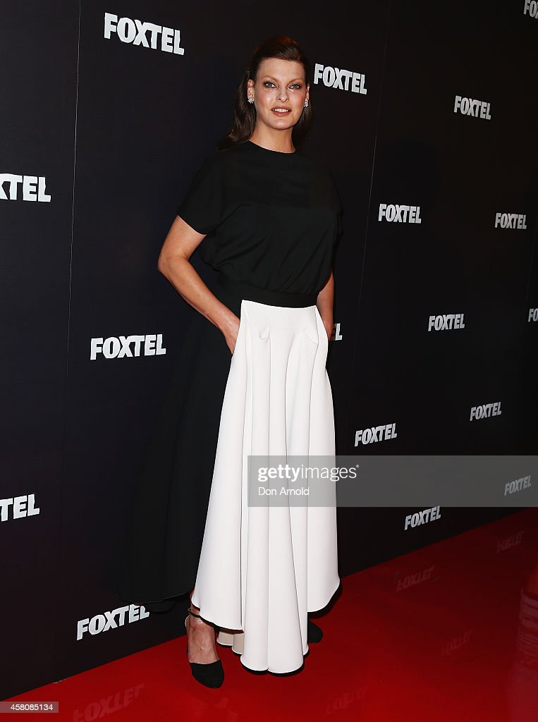 Linda Evangelista attends the Foxtel season launch at Sydney Theatre on October 30, 2014 in Sydney, Australia.
