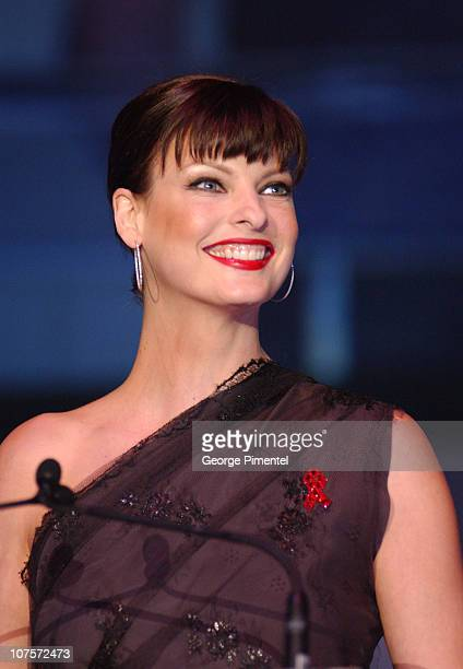 Linda Evangelista during 18th Annual Fashion Cares Canada at Metro Toronto Convention Centre in Toronto Ontario Canada