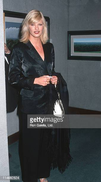 Linda Evangelista during Benefit Auction for Intercambios Culturales Project for El Salvador November 12 1995 at Christie's in New York City New York...