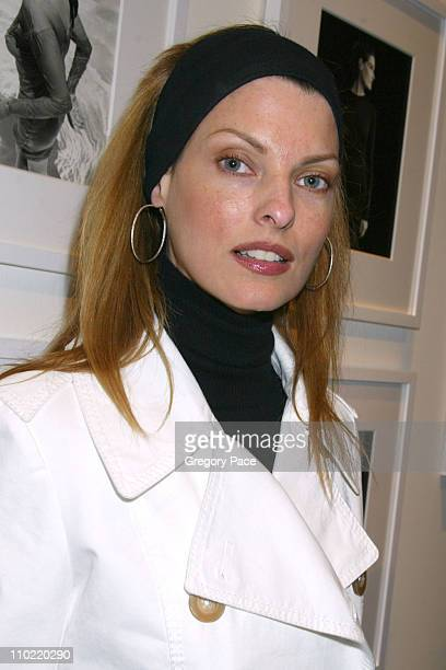 Linda Evangelista during Calvin Klein Inc and Bryan Adams Host the Launch of His New Photography Book 'American Women' Inside the Party at The Calvin...