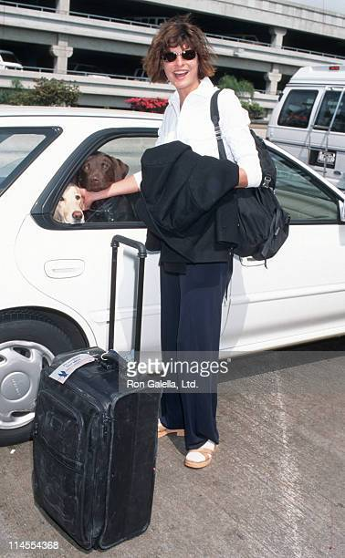 Linda Evangelista during Linda Evangelista Sighting at Los Angeles International Airport March 23 1997 at Los Angeles International Airport in Los...