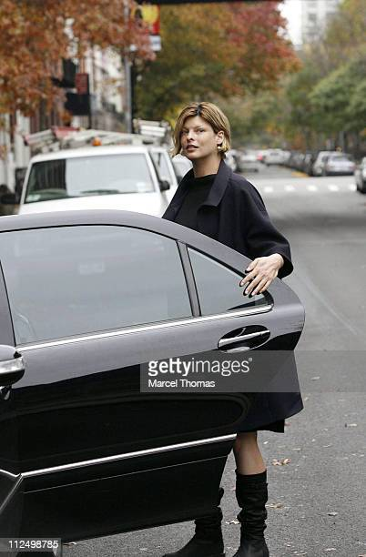 Linda Evangelista during Linda Evangelista Sighting in Soho New York City November 13 2006 at Soho in New York City New York United States