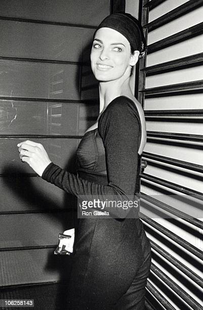 Linda Evangelista during Lisa Evangelista Sighting at 150 Wooster Street April 2 1990 at 150 Wooster Street in New York City New York United States