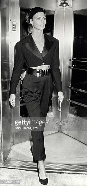 Linda Evangelista during Opening of Gianni Versace's Store in New York City New York United States