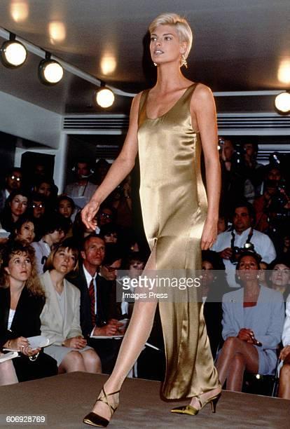 Linda Evangelista on the runway circa 1991 in New York City