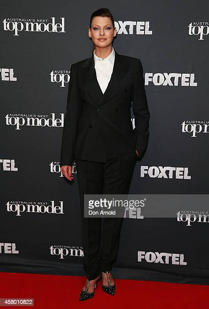 Linda Evangelista poses at the set of Australia's Next Top Model on October 29 2014 in Sydney Australia