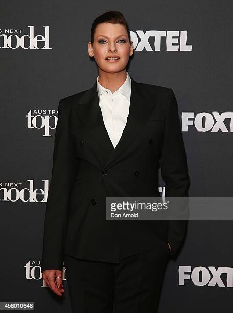 Linda Evangelista poses at the set of Australia's Next Top Model on October 29 2014 in Sydney Australia