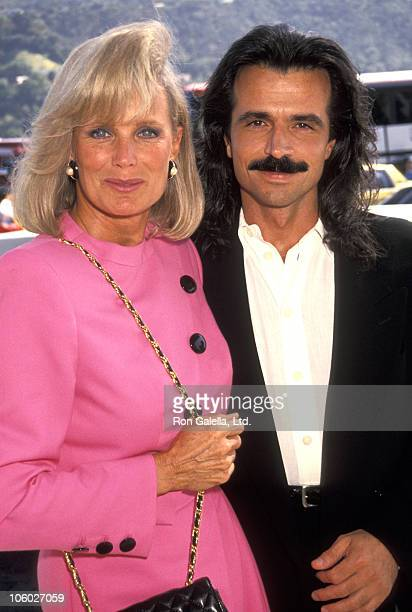 Linda Evans and Yanni during 1991 ABC Summer Tour at Universal Hilton in Universal City California United States