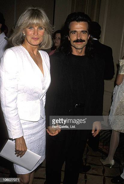 Linda Evans and Yanni during Party For Yanni at Beverly Hills Hotel in Beverly Hills California United States