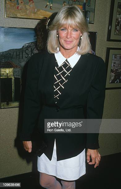 Linda Evans during Book Party for Joan Collins' 'Rockstar' at Tramp's in Beverly Hills California United States
