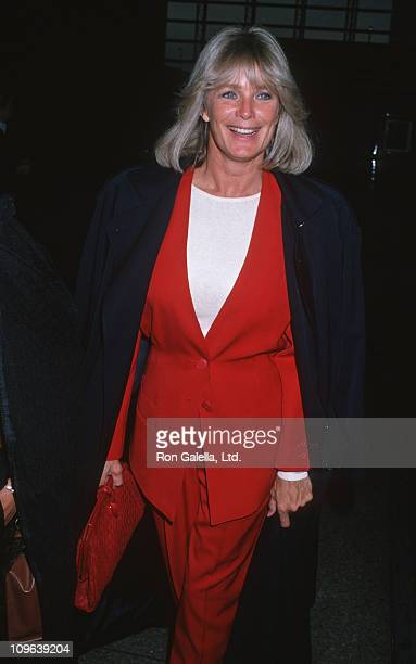 Linda Evans during Linda Evans Sighting at Los Angeles International Airport October 6 1989 at Los Angeles International Airport in Los Angeles...