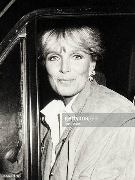 Linda Evans during Linda Evans Sighting at Spago in Hollywood January 1 1985 at Spago Restaurant in Hollywood California United States