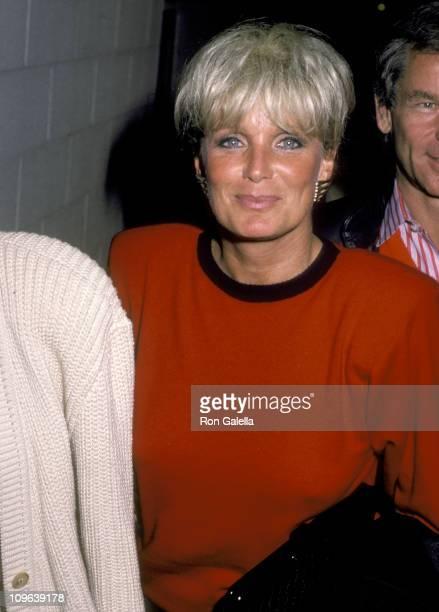 Linda Evans during Linda Evans Sighting at Spago in Hollywood January 12 1986 at Spago in West Hollywood California United States