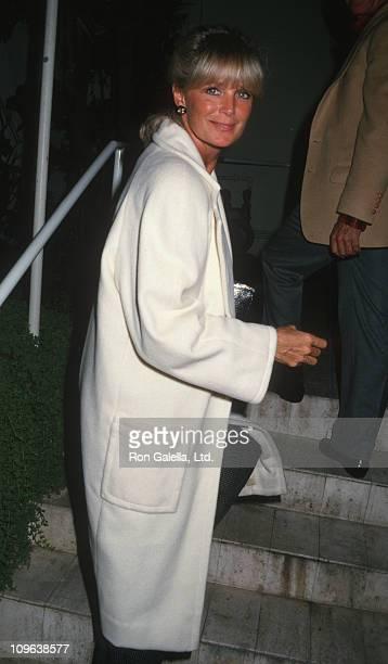 Linda Evans during Linda Evans Sighting at Spago in Hollywood October 24 1987 at Spago Restaurant in Hollywood California United States