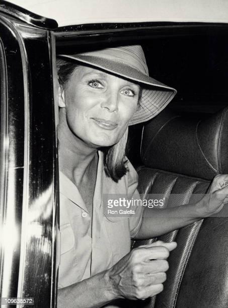 Linda Evans during Linda Evans Sighting at Spago Restaurant in Hollywood October 11 1983 at Spago Restaurant in Hollywood California United States