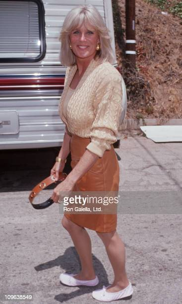 Linda Evans during On the Set of 'Dynasty' June 21 1991 at Brentwood California in Brentwood California United States