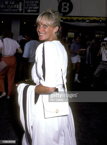 Linda Evans during US Open Tennis Celebrity Sightings September 7 1985 at Flushing Meadows Park in Queens New York United States